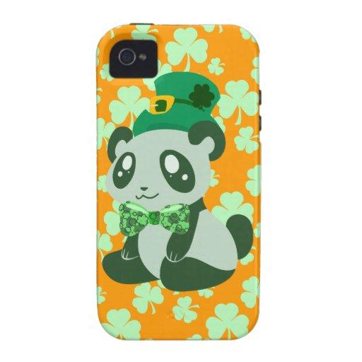 Panda del día de St Patrick Case-Mate iPhone 4 Carcasa