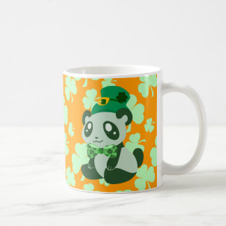 Panda del día de St Patrick Tazas De Café