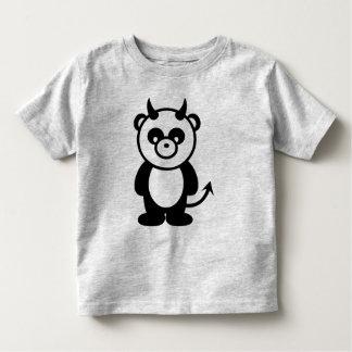 Panda del diablo playera de bebé