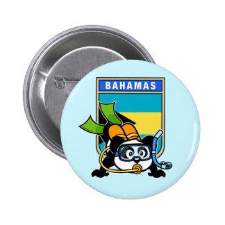 Panda del equipo de submarinismo de Bahamas Pin Redondo De 2 Pulgadas