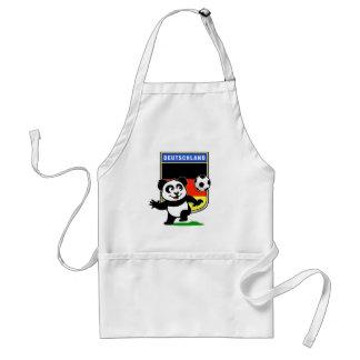Panda del fútbol de Alemania Delantal