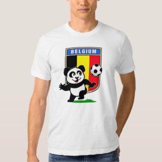 Panda del fútbol de Bélgica (camisetas ligero) Playeras