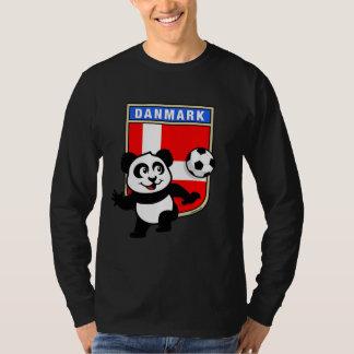 Panda del fútbol de Dinamarca (camisetas oscuro) Poleras