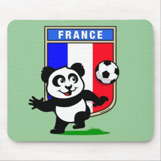 Panda del fútbol de Francia Alfombrillas De Raton