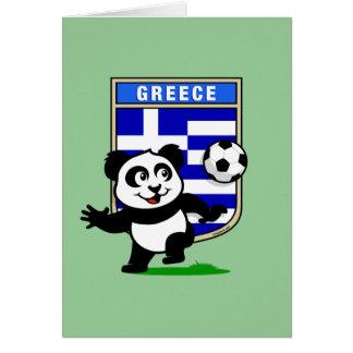 Panda del fútbol de Grecia Tarjeta De Felicitación