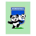 Panda del fútbol de Honduras Tarjetas Postales