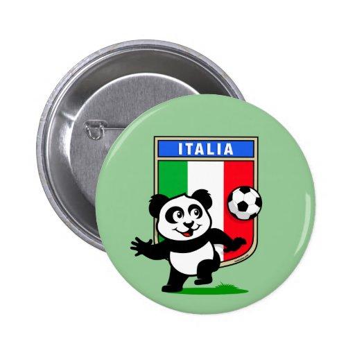 Panda del fútbol de Italia Pin
