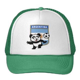 Panda del fútbol de la Argentina Gorras De Camionero