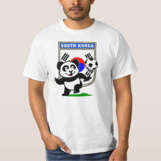 Panda del fútbol de la Corea del Sur (camisetas Polera