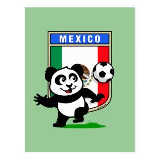 Panda del fútbol de México Postal