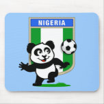 Panda del fútbol de Nigeria Alfombrillas De Ratón