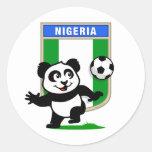 Panda del fútbol de Nigeria Pegatinas Redondas