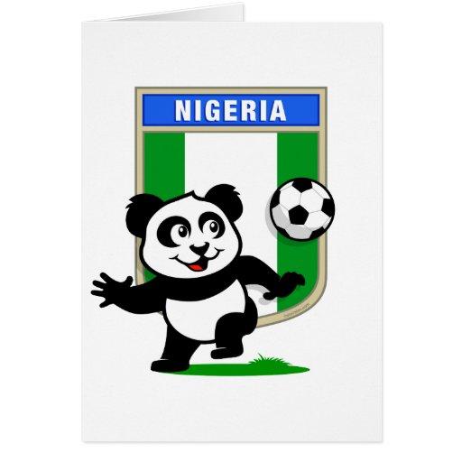 Panda del fútbol de Nigeria Tarjeta De Felicitación