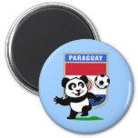 Panda del fútbol de Paraguay Imán Para Frigorifico