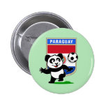 Panda del fútbol de Paraguay Pin