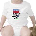 Panda del fútbol de Paraguay Trajes De Bebé