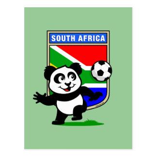 Panda del fútbol de Suráfrica Tarjetas Postales