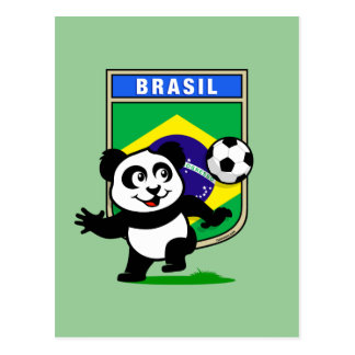 Panda del fútbol del Brasil Tarjetas Postales