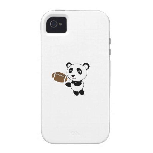 Panda del fútbol iPhone 4/4S fundas