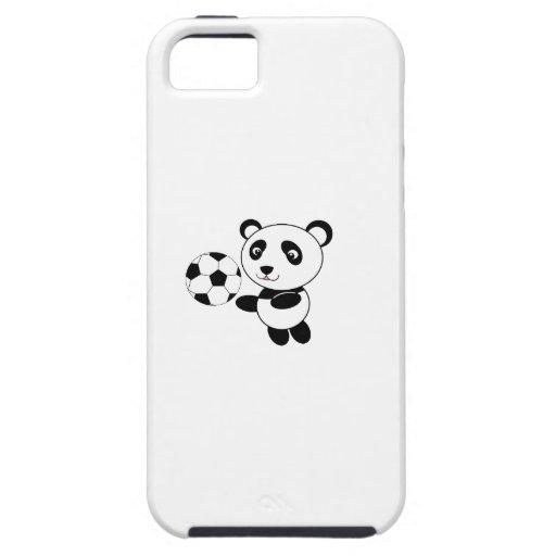 Panda del fútbol iPhone 5 Case-Mate protector
