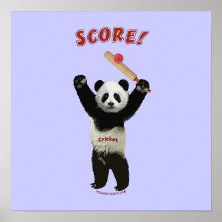 Panda del grillo de la cuenta poster