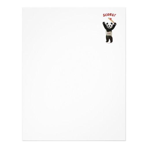 Panda del grillo de la cuenta tarjeta publicitaria