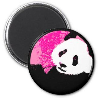 panda. del grunge imán redondo 5 cm