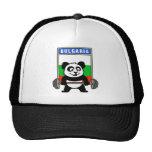 Panda del levantamiento de pesas de Bulgaria Gorras De Camionero