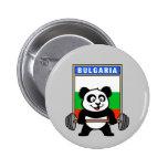 Panda del levantamiento de pesas de Bulgaria Pins