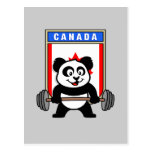 Panda del levantamiento de pesas de Canadá Tarjetas Postales