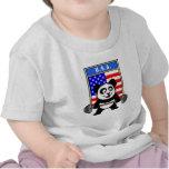 Panda del levantamiento de pesas de los E.E.U.U. Camisetas
