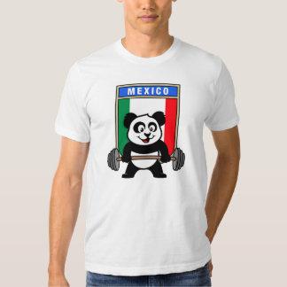 Panda del levantamiento de pesas de México Remera
