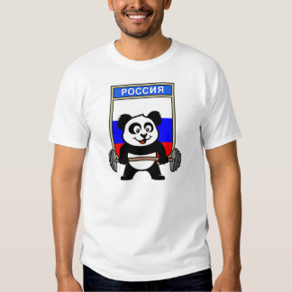 Panda del levantamiento de pesas de Rusia Poleras
