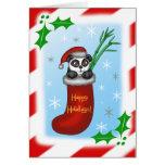Panda del navidad felicitacion