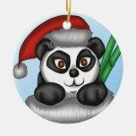 Panda del navidad ornamento para reyes magos