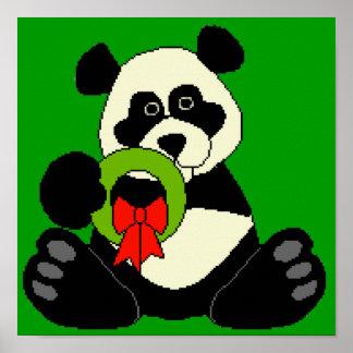 Panda del navidad poster