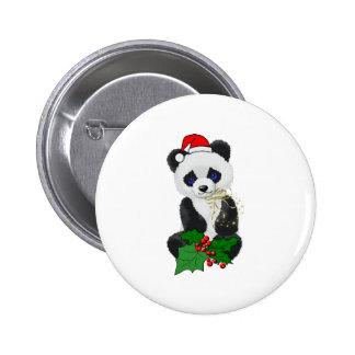 Panda del navidad pins