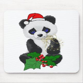Panda del navidad tapete de raton