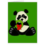 Panda del navidad tarjetas