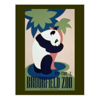 Panda del parque zoológico de Brookfield Postal