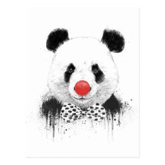 Panda del payaso tarjeta postal