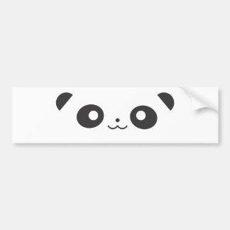 Panda del Peekaboo Pegatina De Parachoque