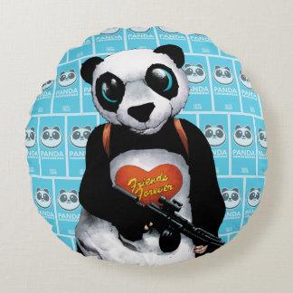 Panda del pelotón el | del suicidio cojín redondo