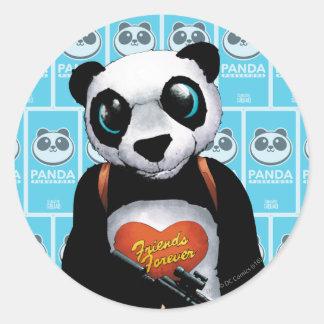 Panda del pelotón el | del suicidio pegatina redonda