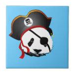 Panda del pirata azulejos ceramicos