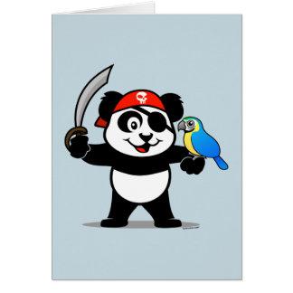Panda del pirata tarjeta