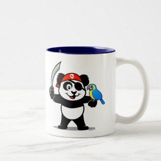 Panda del pirata taza de café de dos colores