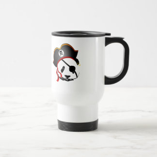 Panda del pirata taza de viaje