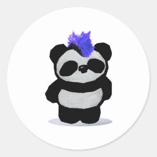 Panda del punk rock pegatinas redondas