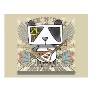 Panda del rock-and-roll tarjetas postales